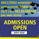 School of Nursing, Tombia Nursing/Midwifery Admissions Form for 2021/2022 Academic session Is on con